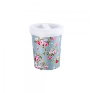 Imagem do produto - Porta Cotonete de Plástico Floral
