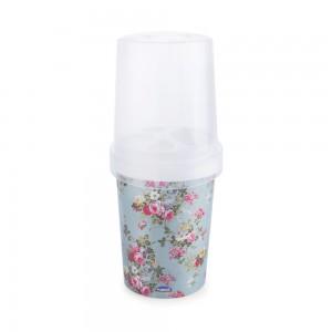 Imagem do produto - Porta Escovas e Creme Dental de Plástico com Tampa Provençal