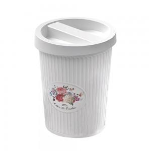 Imagem do produto - Lixeira de Plástico 5,5 L com Tampa - Provençal