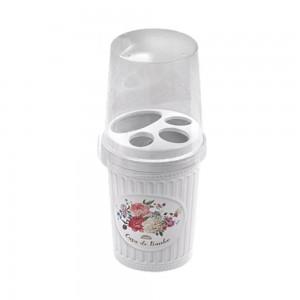 Imagem do produto - Porta Escovas e Creme Dental de Plástico com Tampa