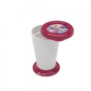 Imagem do produto - Copo Retrátil de Plástico 330 ml com Tampa Frozen Elsa