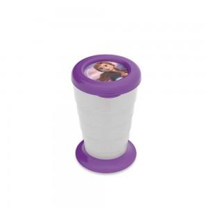 Imagem do produto - Copo Retrátil de Plástico 330 ml com Tampa Frozen Anna
