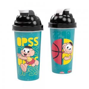 Imagem do produto - Shakeira de Plástico 580 ml com Tampa Rosca e Misturador Cascão