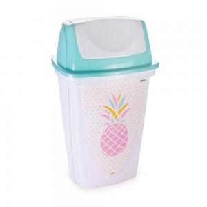 Imagem do produto - Lixeira de Plástico 14 L com Tampa Basculante Abacaxi