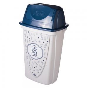 Imagem do produto - Lixeira de Plástico 14 L com Tampa Basculante Fazenda