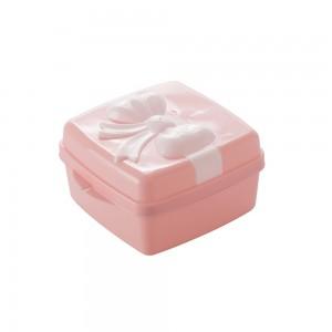 Imagem do produto - Pote de Plástico com Tampa Fixa em Formato de Presente