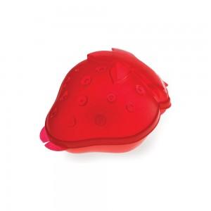 Imagem do produto - Pote de Plástico com Tampa Fixa em Formato de Morango