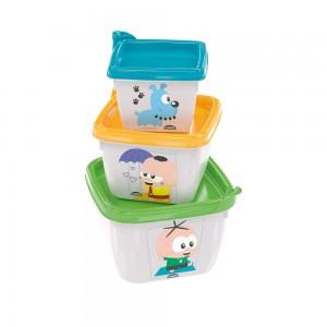 Imagem do produto - Conjunto de Potes Quadrados Conect 3 Unidades Mônica Toy