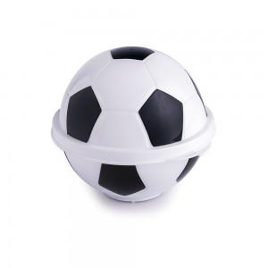 Imagem do produto - Pote de Plástico com Tampa Fixa em Formato de Bola de Futebol