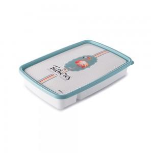 Imagem do produto - Porta Talheres de Plástico com Tampa 4 Divisórias Flamingo
