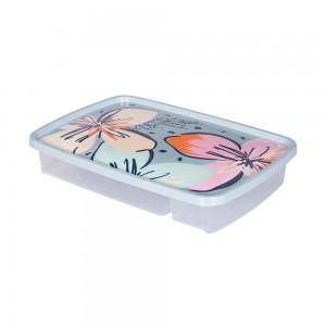 Imagem do produto - Porta Talheres de Plástico com Tampa 4 Divisórias