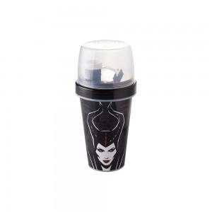 Imagem do produto - Mini Shakeira de Plástico 320 ml com Misturador, Fechamento Rosca e Sobretampa Articulável Malevola