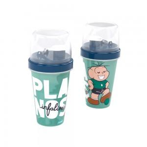 Imagem do produto - Mini Shakeira de Plástico 320 ml com Misturador, Fechamento Rosca e Sobretampa Articulável Cebolinha