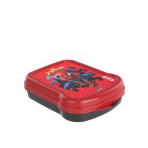 Imagem do produto - Sanduicheira de Plástico com Tampa Fixa Homem Aranha