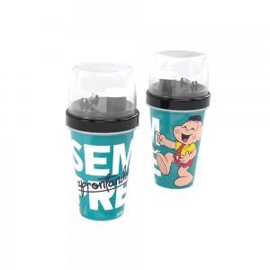 Imagem do produto - Mini Shakeira de Plástico 320 ml com Misturador, Fechamento Rosca e Sobretampa Articulável Cascão