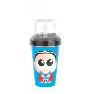 Imagem do produto - Mini Shakeira de Plástico 320 ml com Misturador, Fechamento Rosca e Sobretampa Articulável Mônica Toy