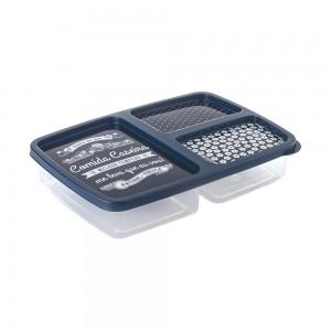 Imagem do produto - Pote de Plástico Retangular 1 L com 3 Divisórias Clic Fazenda