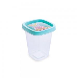 Imagem do produto - Pote de Plástico Quadrado 360 ml Clic Abacaxi