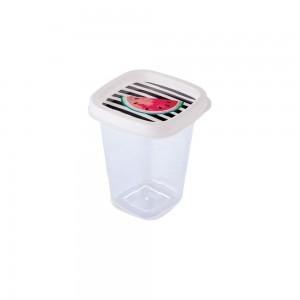 Imagem do produto - Pote de Plástico Quadrado 360 ml Clic Melancia