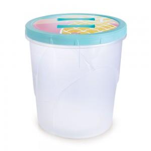 Imagem do produto - Pote de Plástico Redondo 4,5 L Rosca Abacaxi