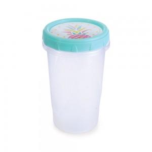 Imagem do produto - Pote de Plástico Redondo 550 ml Rosca Abacaxi