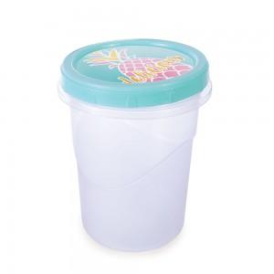 Imagem do produto - Pote de Plástico Redondo 1 L Rosca Abacaxi