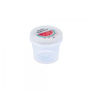Imagem do produto - Pote de Plástico Redondo 300 ml Rosca Melancia