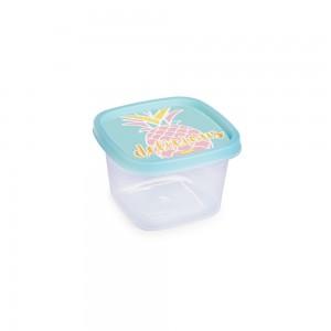 Imagem do produto - Pote de Plástico Quadrado 200 ml Clic Abacaxi