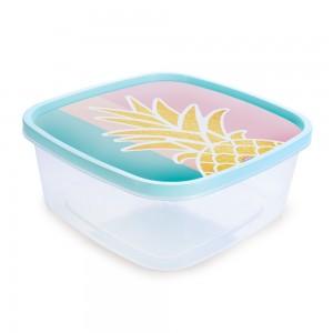 Imagem do produto - Pote de Plástico Quadrado 2,85 L Clic Abacaxi