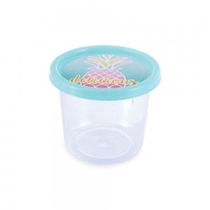 Imagem - Pote de Plástico Redondo 480 ml Clic Abacaxi 005657-3132 Verde