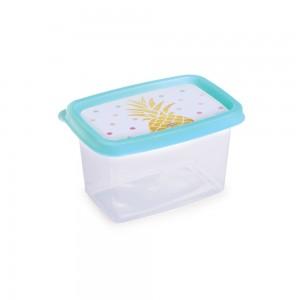 Imagem do produto - Pote de Plástico Retangular 430 ml Clic Abacaxi