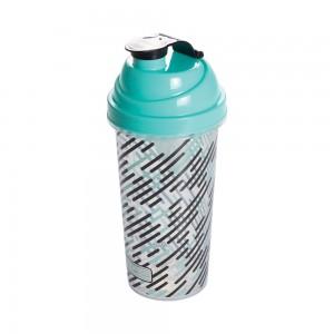 Imagem do produto - Shakeira de Plástico 580 ml com Tampa Rosca e Misturador Fitness