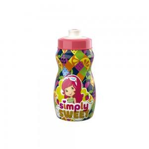 Imagem do produto - Garrafa Squeeze de Plástico 300 ml com Tampa Rosca Moranguinho