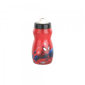 Imagem do produto - Garrafa Squeeze de Plástico 300 ml com Tampa Rosca Homem Aranha