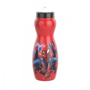 Imagem do produto - Garrafa Squeeze de Plástico 600 ml com Tampa Rosca Homem Aranha