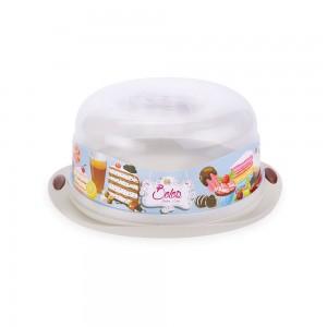 Imagem do produto - Boleira de Plástico Redonda com Tampa Encaixável Café da Manhã