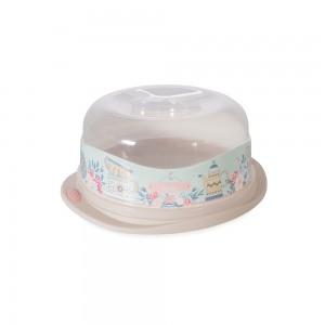 Imagem do produto - Boleira de Plástico Redonda com Tampa Encaixável Café da Manhã Xícara