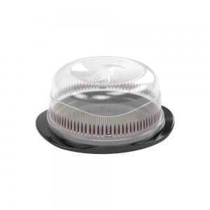 Imagem do produto - Boleira de Plástico Redonda com Tampa Encaixável Café Glamour