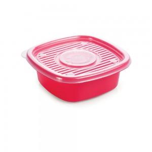 Imagem do produto - Pote de Plástico Quadrado 400 ml Pop