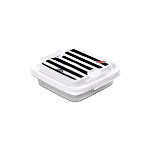 Imagem do produto - Pote de Plástico Quadrado 150 ml com Travas Clic e Trave Melancia