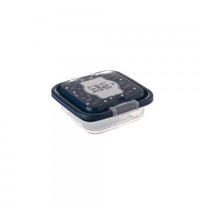 Imagem do produto - Pote de Plástico Quadrado 150 ml com Travas Clic e Trave Fazenda