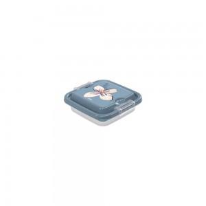 Imagem do produto - Pote de Plástico Quadrado 150 ml com Travas Clic e Trave