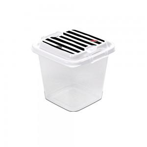 Imagem do produto - Pote de Plástico Quadrado 630 ml com Travas Clic e Trave Melancia