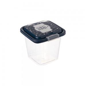Imagem do produto - Pote de Plástico Quadrado 630 ml com Travas Clic e Trave Fazenda