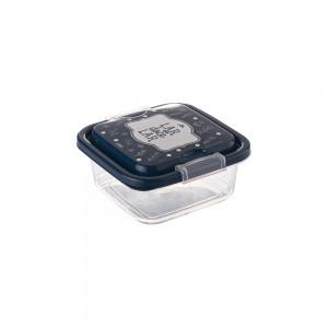 Imagem do produto - Pote de Plástico Quadrado 640 ml com Travas Clic e Trave Fazenda