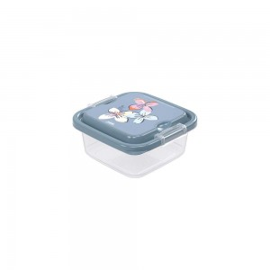 Imagem do produto - Pote de Plástico Quadrado 640 ml com Travas Clic e Trave
