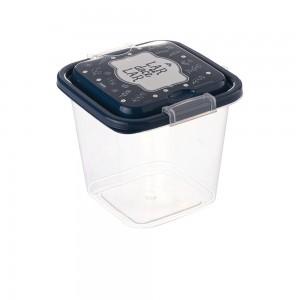 Imagem do produto - Pote de Plástico Quadrado 1,4 L com Travas Clic e Trave Fazenda