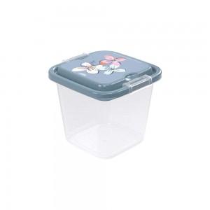 Imagem do produto - Pote de Plástico Quadrado 1,4 L com Travas Clic e Trave