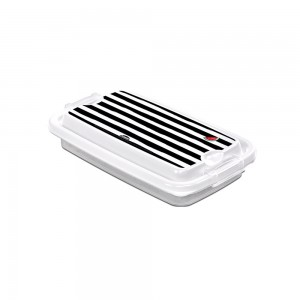 Imagem do produto - Pote de Plástico Retangular 280 ml com Travas Clic e Trave Melancia