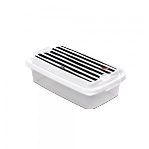 Imagem do produto - Pote de Plástico Retangular 520 ml com Travas Clic e Trave Melancia